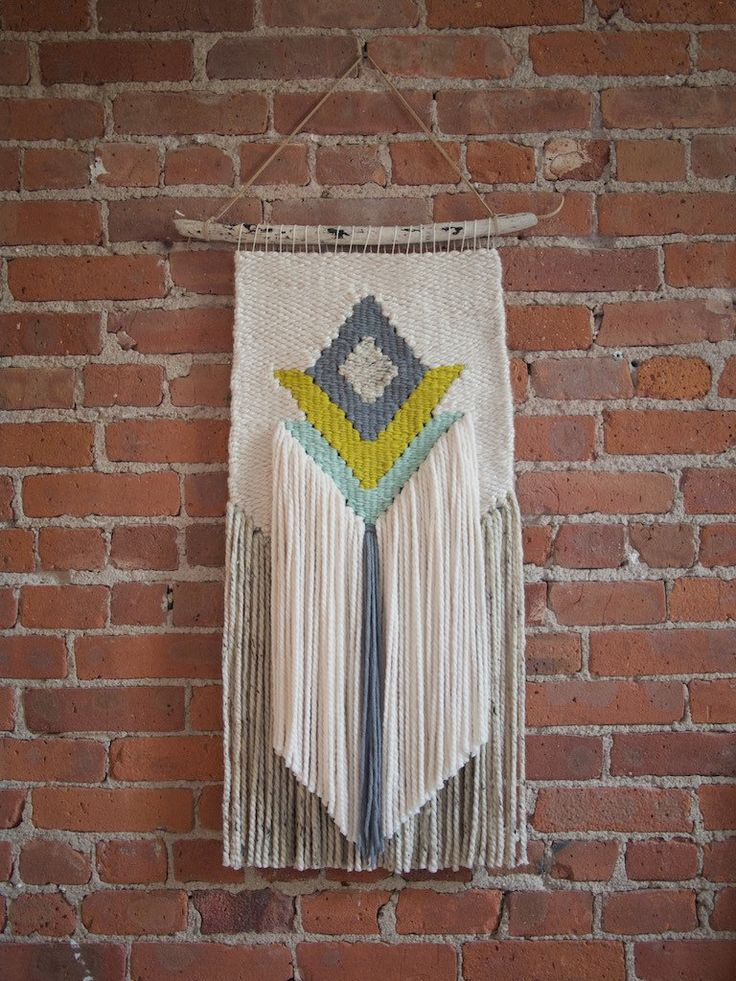 Handmade Woven Wall Art - The Charlotte - READY TO SHIP by TheUrbanLoomShop on Etsy