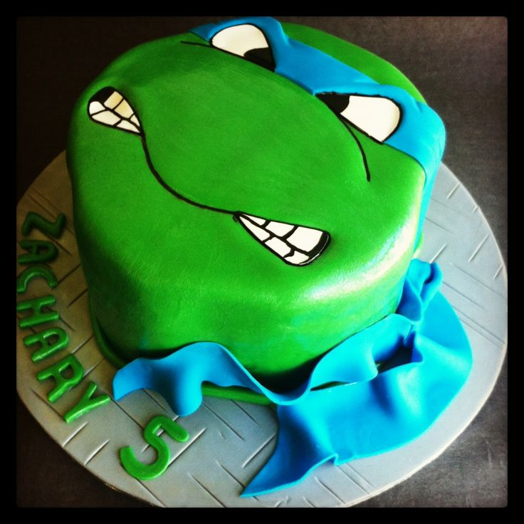 Ninja Turtle Birthday Sheet Cake