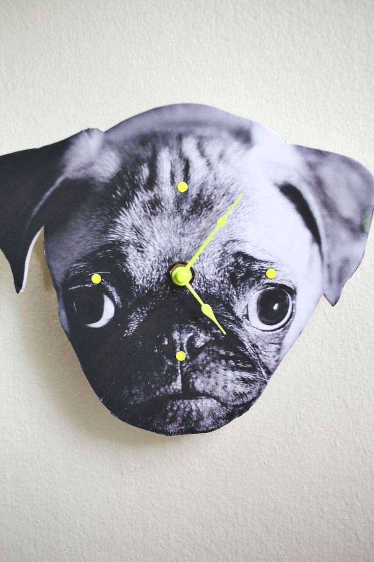 PHOTO WALL CLOCK from A Beautiful Mess - Awesome DIY gift ideas & pet craft!