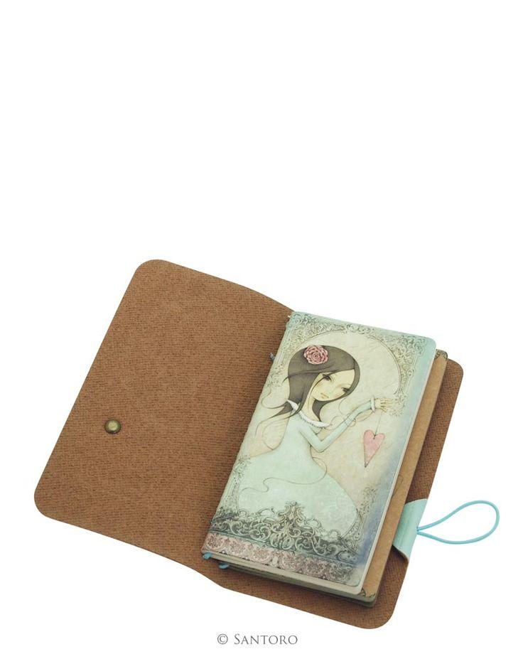 Pocket PU Notebook - All For Love, Santoro's Mirabelle
