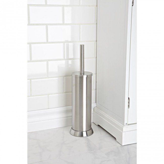 Keep your toilet brush out of sight with our stainless steel Loft Toilet Brush Holder.