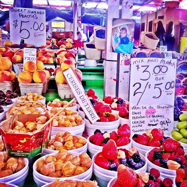 Fresh berries at the ByWard Market in downtown Ottawa, Canada. Image credit: Instagrammer SeattleTravels