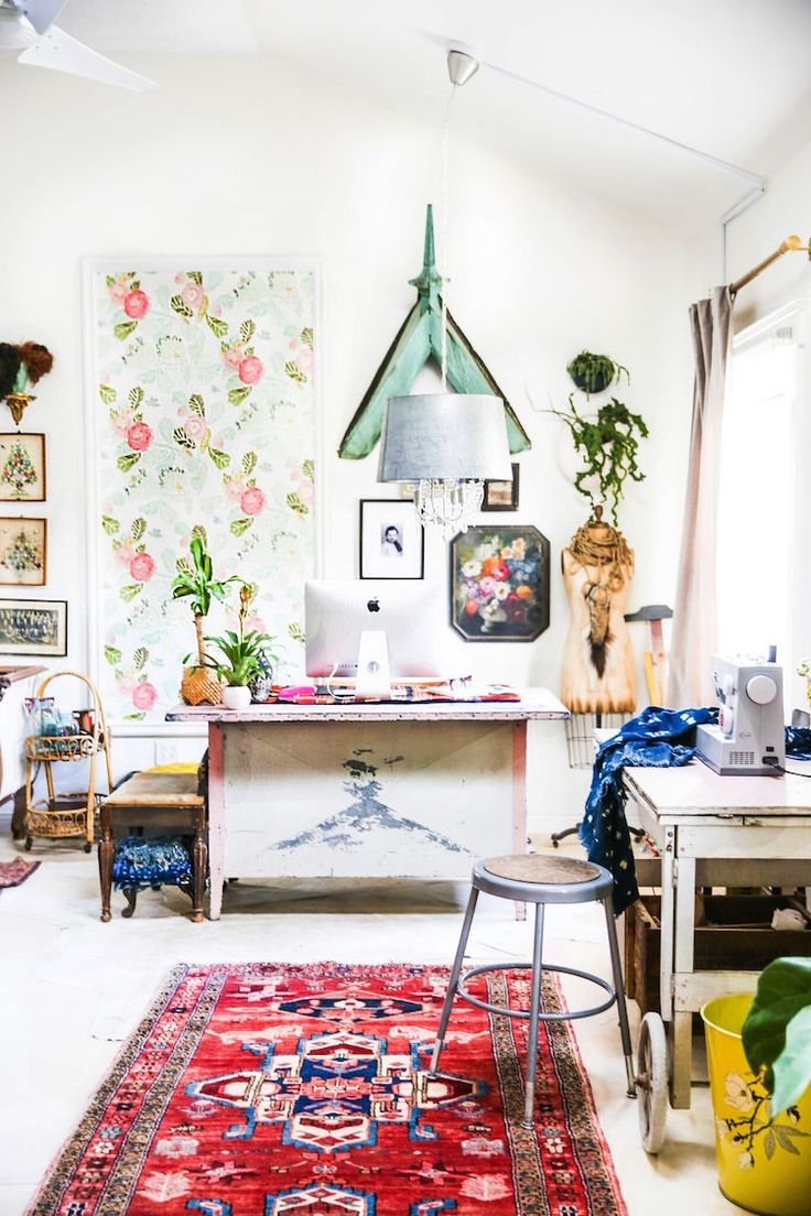 my scandinavian home: Beautiful inspiration from the book 'Your Creative Work Space' by Desha Peacock (photo: Anisa Rrapaj)