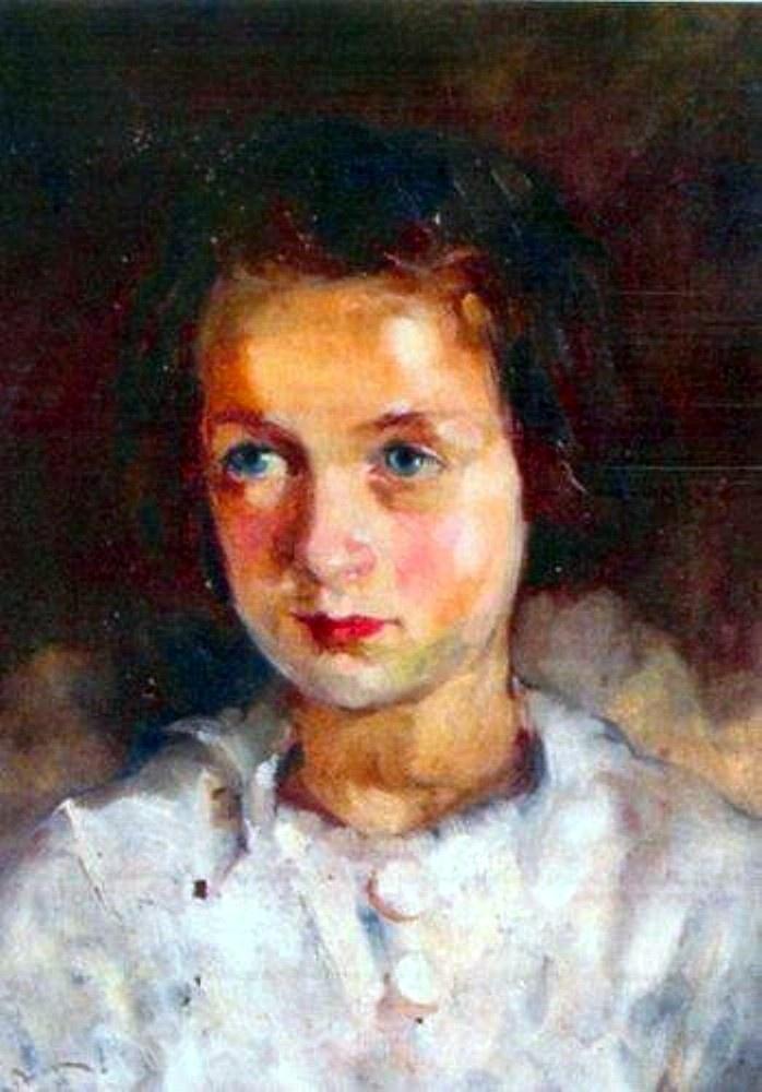 Aurel Baesu-Portret Theodora Sadoveanu