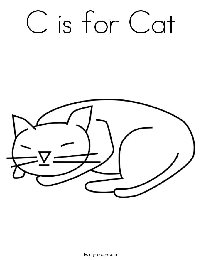 50 Elegant Cat Coloring Page C Is For Cat Cat Coloring Page
