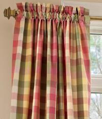Moire Plaid Rod Pocket Curtains - Pair_100529