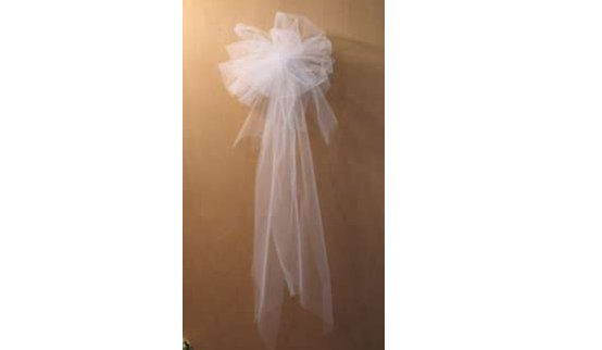 How to Make a Tulle Bow - Decorating with Tulle: Did this for my own wedding and it works great!