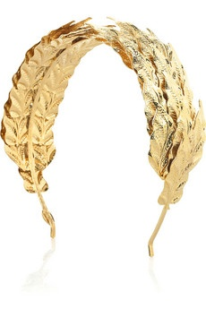 Caesar gold leaf hairband