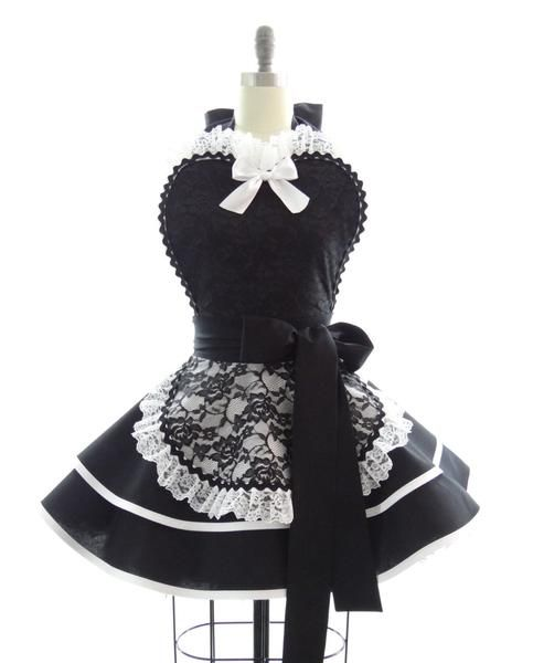 Classic Black French Maid Apron by Bambino Amore - The Apron Makers