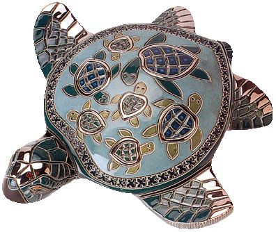 I love turtles and this is so beautiful. Would make a gorgeous paperweight.