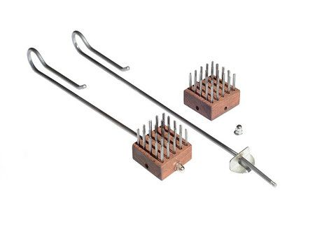 Braai World Stainless Steel Grid Brushes with Reversible Heat Treated Wooden Head