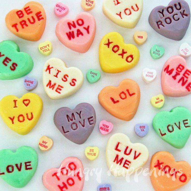 17 Best images about Valentine Conversation Hearts   on ...