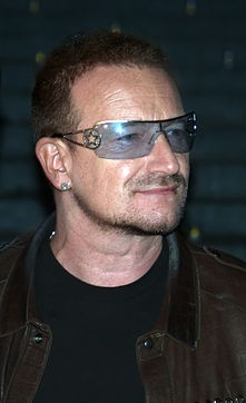 Paul David Hewson (born 10 May 1960), most commonly known by his stage name Bono (/ˈbɒnoʊ/ BON-oh), is an Irish singer, musician, and humanitarian best known for being the main vocalist of the Dublin-based rock band U2.
