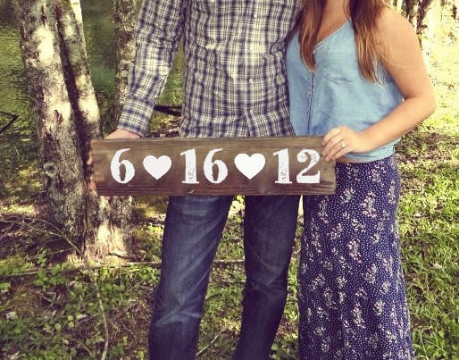 Photo Prop Signs for Engagement Photos or Wooden by ThePaperWalrus, $24.99
