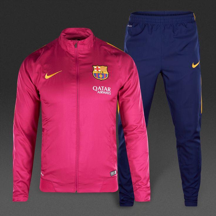 Nike FC Barcelona REV Woven Tracksuit - Dynamic Berry/University Gold