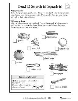 Bend it! Stretch it! Squash it! - Worksheets & Activities | GreatSchools