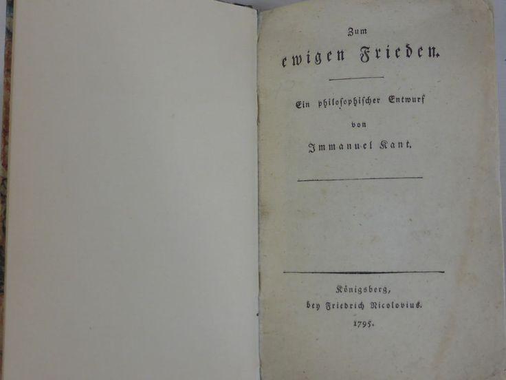 Immanuel Kant Philosoph Zum ewigen Frieden Königsberg Friedrich Nicolovius 1795