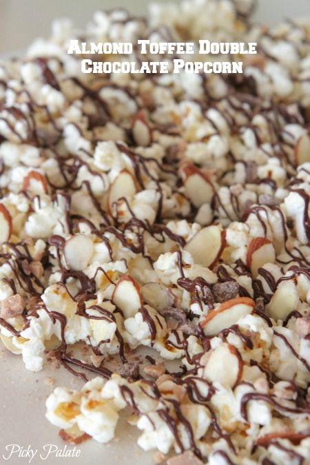 almond toffee double chocolate popcorn popcorn makes mixes popcorn ...