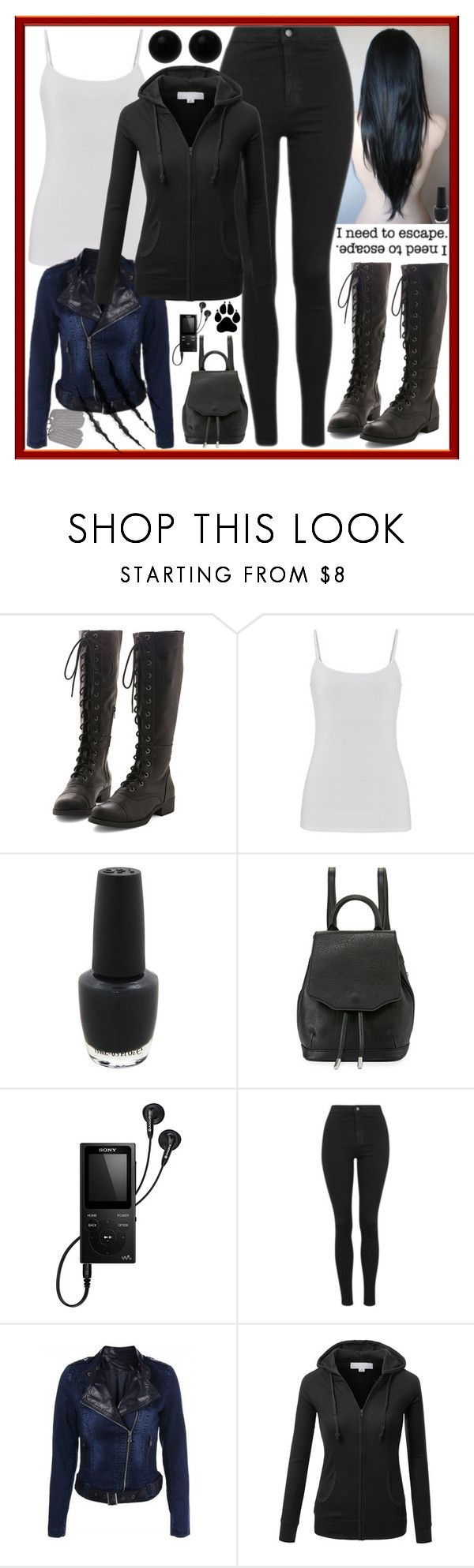 """""""Up side Right or Up side Down"""" by dev-lynn ❤ liked on Polyvore featuring maurices, OPI, rag & bone, Sony, Topshop, J.TOMSON, Sirius, Möve and Bridge Jewelry"""