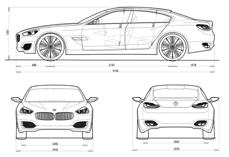 Car blueprint cars blueprints pinterest cars bmw and bmw m6 for Porsche panamera interior dimensions