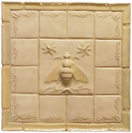 Napoleonic Bee Deco Ceramic Tile Fantasia Stone Bee