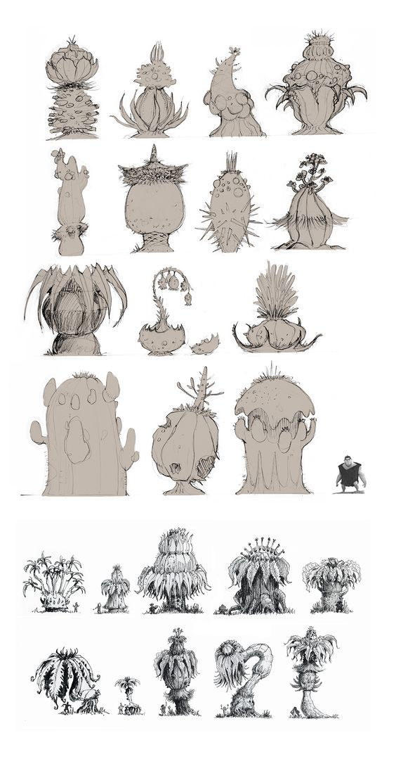 Character Design Journal : Best how to draw realistic trees plants bushes and