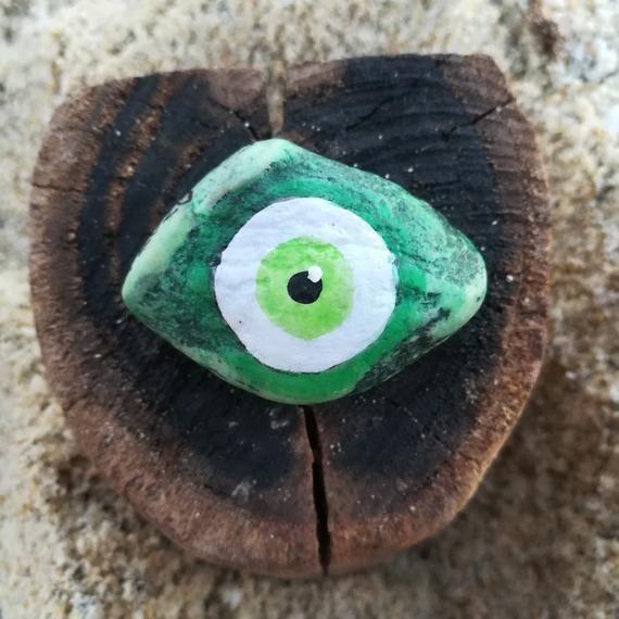 Evil eye amulethandmade souvenir from Greece  lucky stone