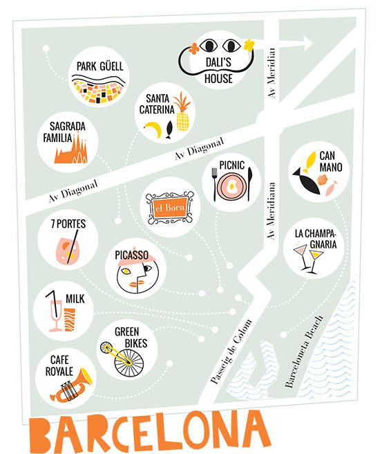 OUR BARCELONA TRIP! #travel #map