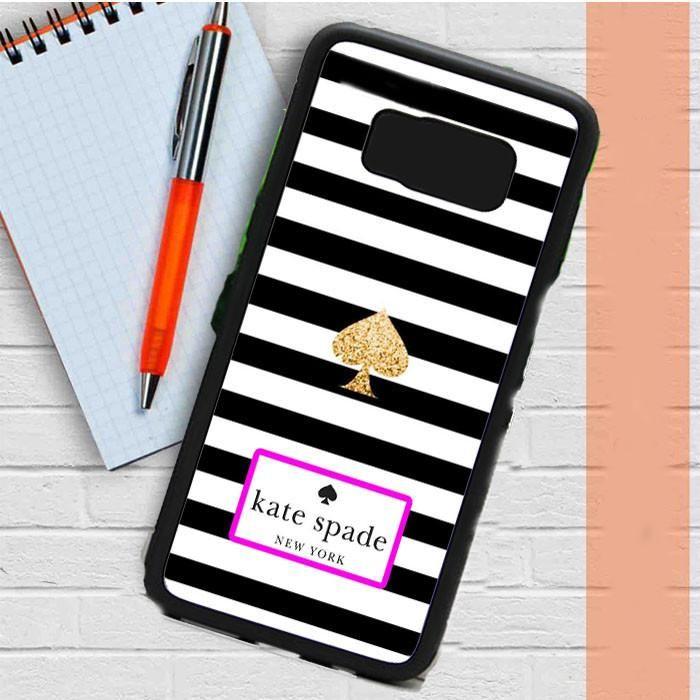 Kate Spade Black White Strip Samsung Galaxy S8 Case Dewantary