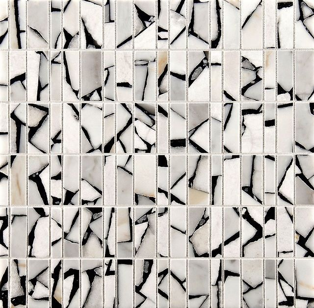 Selvaggio mosaic in Safari bianco & nero, by Ann Sacks