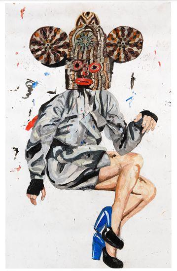 Charlotte Schleifert, Ann-240x151-cm-pastelkrijt-