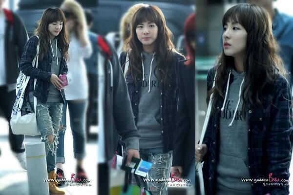 2ne1 dara airport fashion kpop idol airport fashion