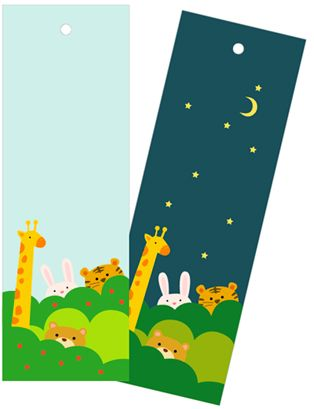 Day & Night Animal Bookmarks / Mr Printables