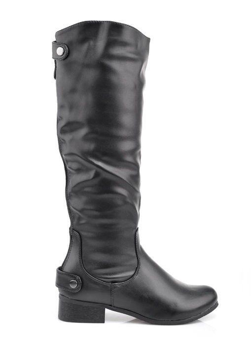 Zateplené dámske čižmy - black