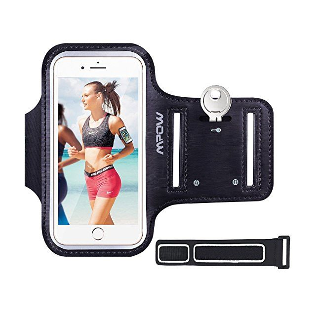 iPhone 6 / 6s 7 / 8 Armband Mpow Sweatproof Sports Running Armband (with Reflective Strap  Key Holder) Compatible with iPhone 6 / 6s (4.7 inch) for Jogging Gym Cycling Biking Hiking Horseback Riding #amazon #electronics