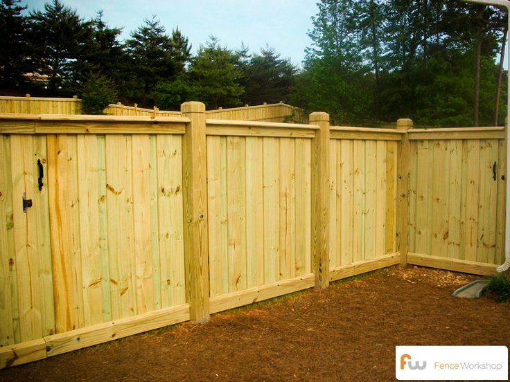 10 images about fence on pinterest fence styles fence for Wood privacy fence ideas