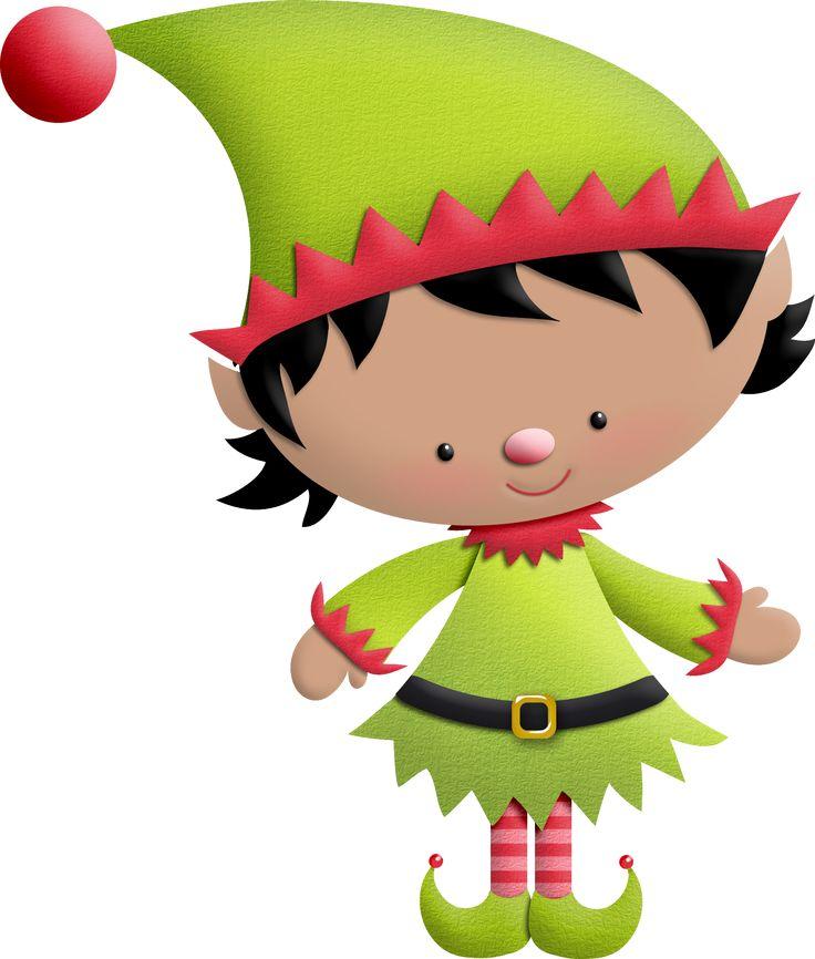 Ideas y material gratis para fiestas y celebraciones Oh My Fiesta!: Duendes del Clipart Ayudando a Santa Claus.