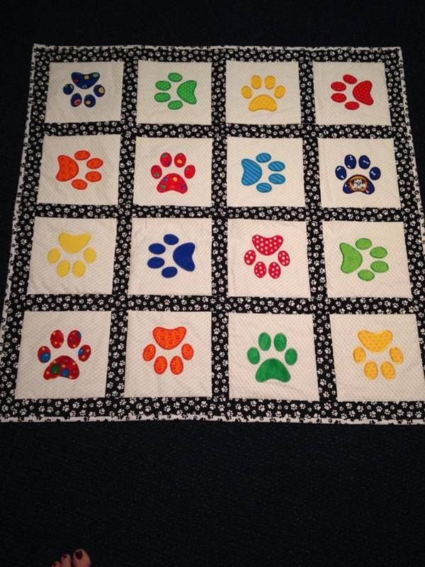 "from 24 blocks - Shary Diestelmeier Meinert: ""I made this for my Yorkie who just passed his Therapy Dog training. We will take it along for him to lay on when he visits patients in the hospital or nursing home."""