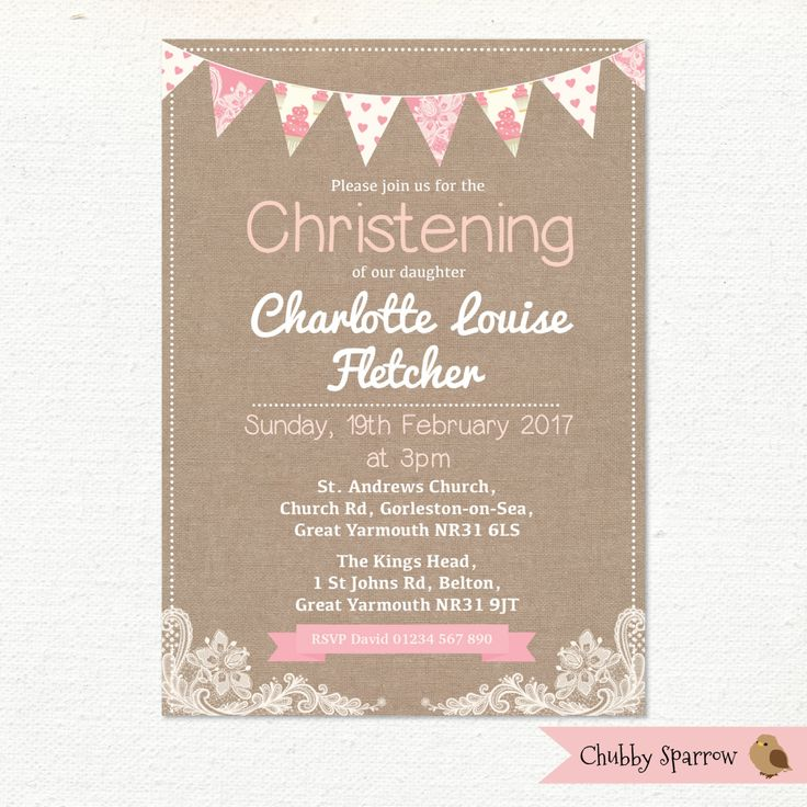 56 best Christening Invitations handmade printable vintage