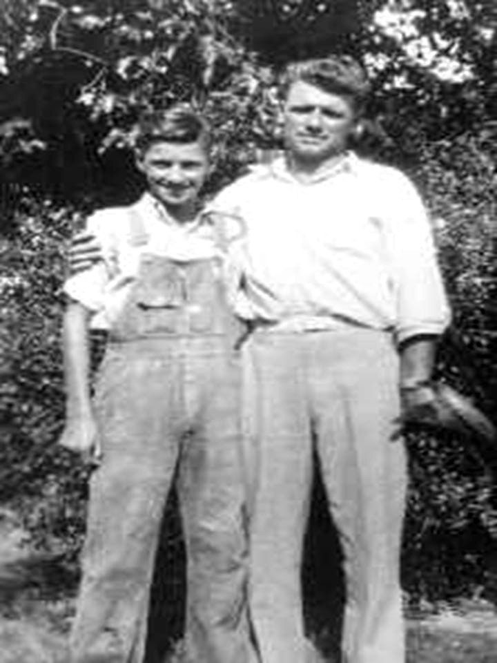 Charles Whitman  with his father