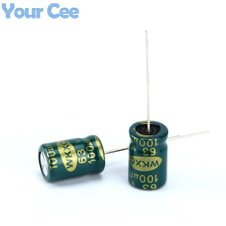 20 pcs Electrolytic Capacitors High Frequency 63V 100UF Aluminum Electrolytic Capacitor