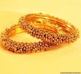 Antique Gold Look Fine Bangles