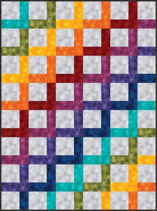 Viola-Rainbow-Sorbet Timeless Treasures pattern
