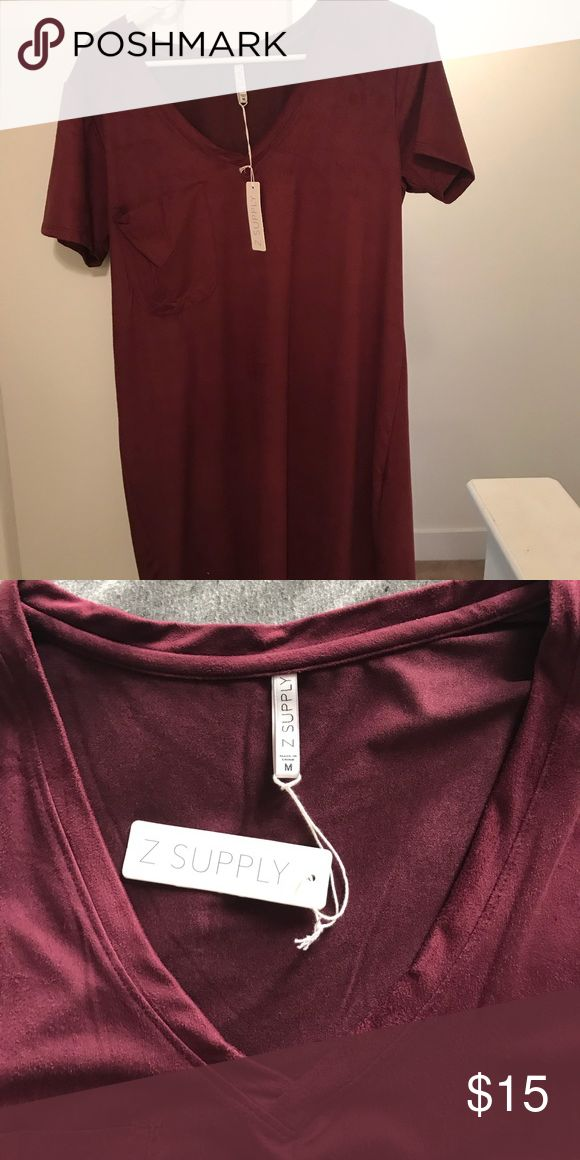 Lulu's maroon t-shirt dress Super cute maroon t-shirt style dress! Never worn because it was too big on me. New with tags. Let me know if you want better pictures since the app made me crop it weird Lulu's Dresses