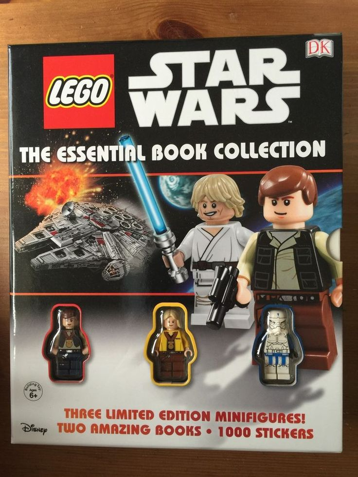 Lego Star Wars Book With 3 Limited Edition Minifigures | Star Wars ...