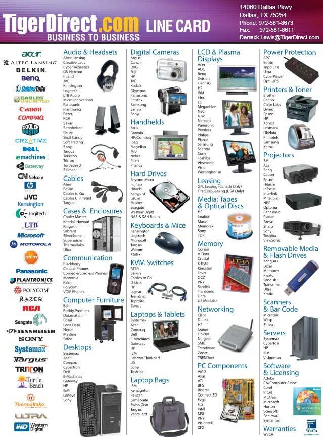 TigerDirect_Line_Card.jpg (639×868) | Line Card | Pinterest
