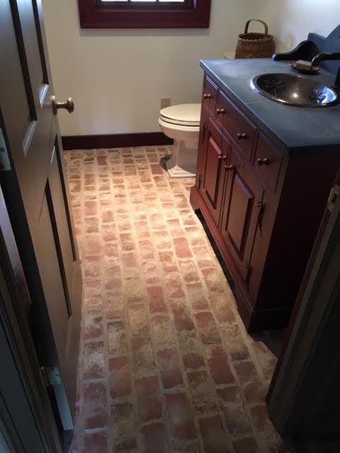 Best Brick Tile Bathrooms Images Pinterest