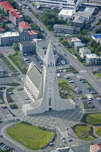 Hallgrimskirkja Church in Reykjavik. Iceland