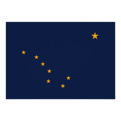 Alaska S Flag Print Zazzle Com Alaska Flag Flag Prints Poster Prints