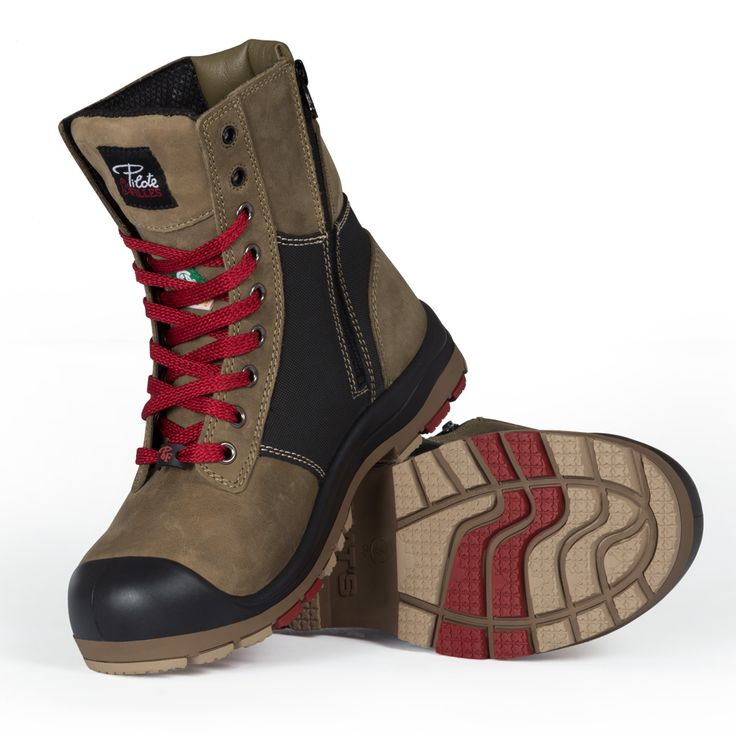 Steel toe work boots for women With zipper CSA